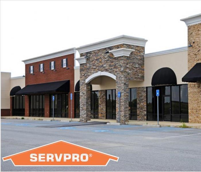 Strip Mall with SERVPRO Logo